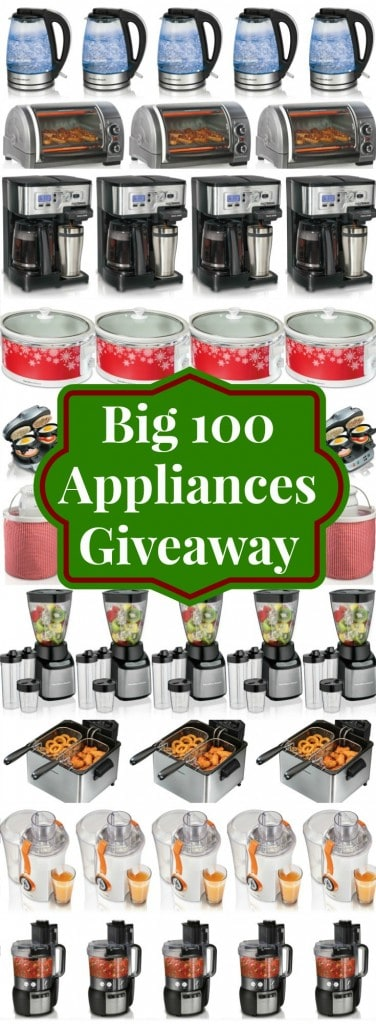 BIG 100 Appliances Giveaway from SouthernPlate and Hamilton Beach!
