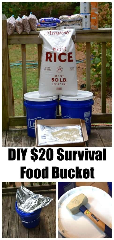 DIY $20 Survival Food Bucket - A great thing to make up just in case!