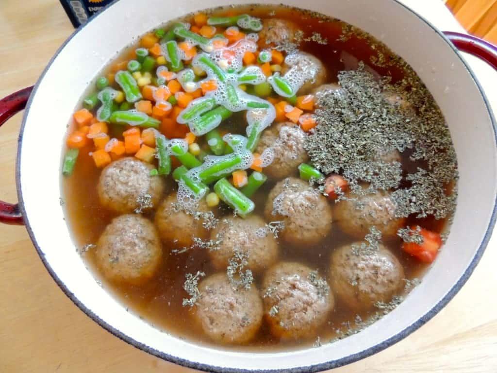 Speedy Italian Meatball Soup | Southern Plate