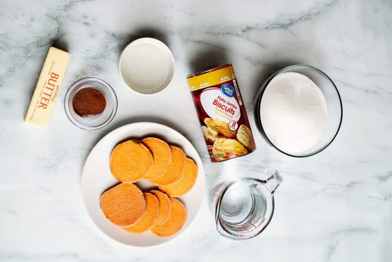 sweet potato dumpling ingredients