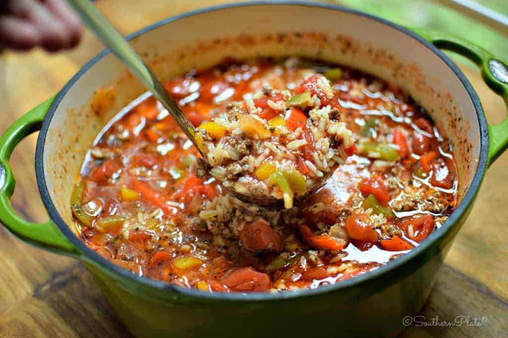 Stuffed Pepper Soup - Comfort Food At It's Finest!