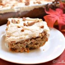 Carrot Cake Bars  - Rich, thick carrot cake bar cookies with cream cheese icing