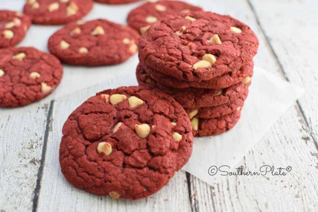 easiest red velvet cookies