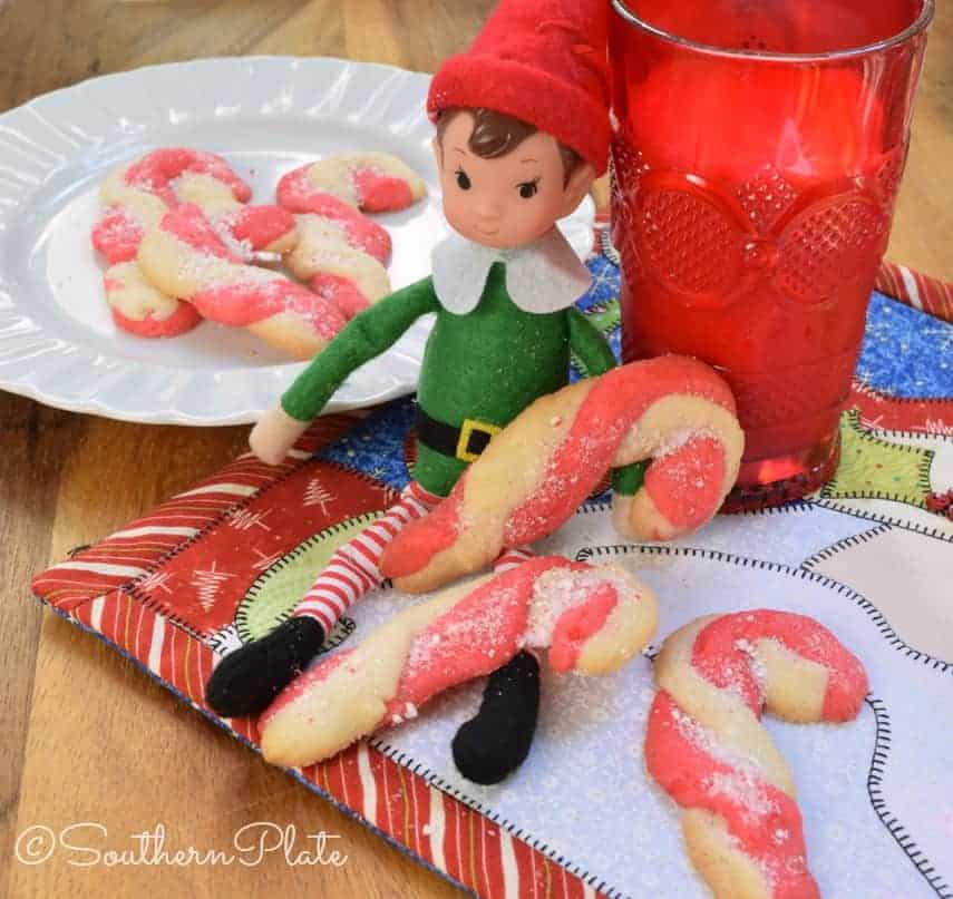 Today my mama janice shares her recipe for candy cane cookies and