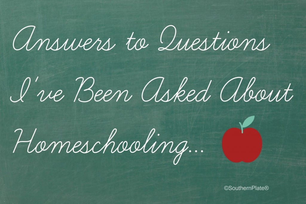 Answers To Questions I've Been Asked About Homeschooling