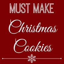 must make christmas cookies