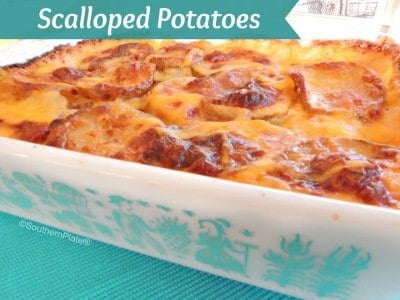 Scalloped Potatoes - and memories of the Dixie Belle Cafe