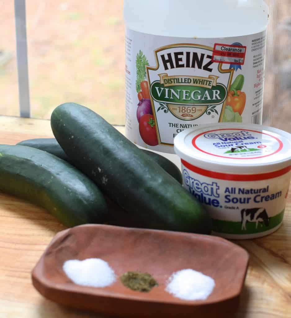 Creamy Cucumbers & Crazy Friends - this is one of those recipes that you just can't stop eating!