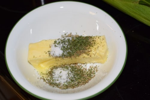 Oven Roasted Butter and Herb Corn