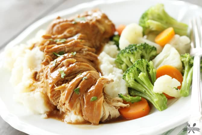 Slow Cooker Chicken and Gravy from SouthernBite