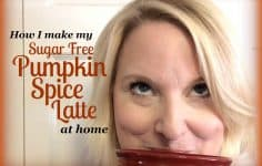 How to make a sugar free pumpkin spice latte at home!