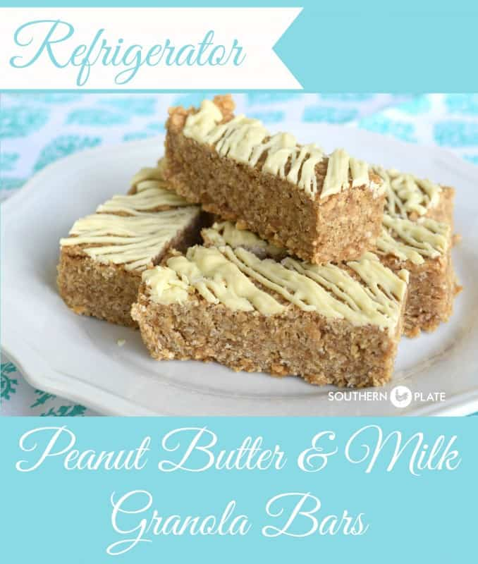 Refrigerator Peanut Butter & Milk Granola Bars - Healthy breakfast or energy filled snack!