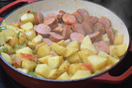 Simple & Delicious Kielbasa Skillet