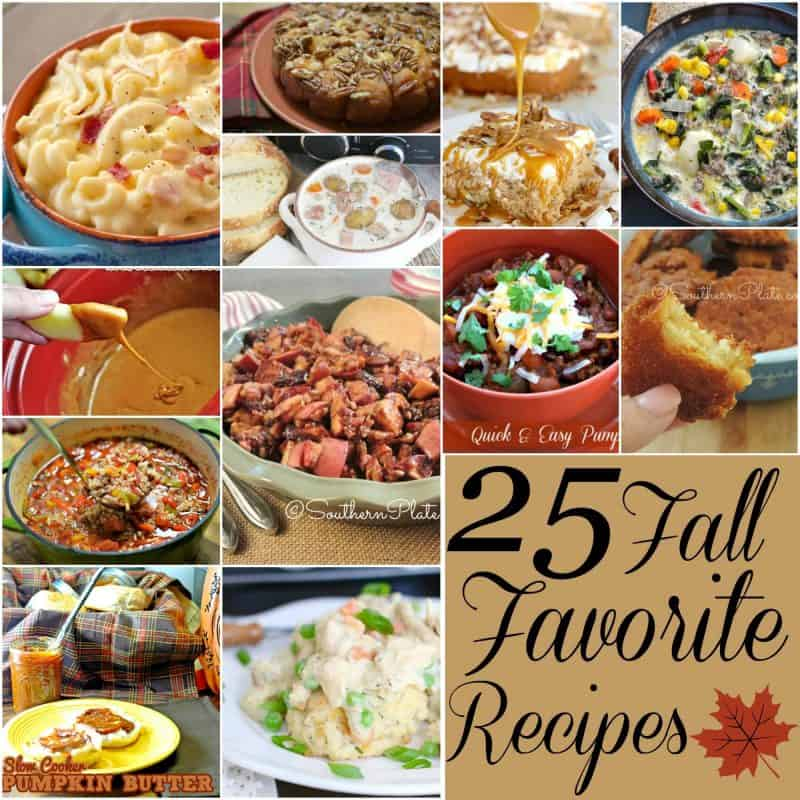 25 Fall Favorite Recipes