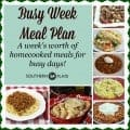 busy week meal plan