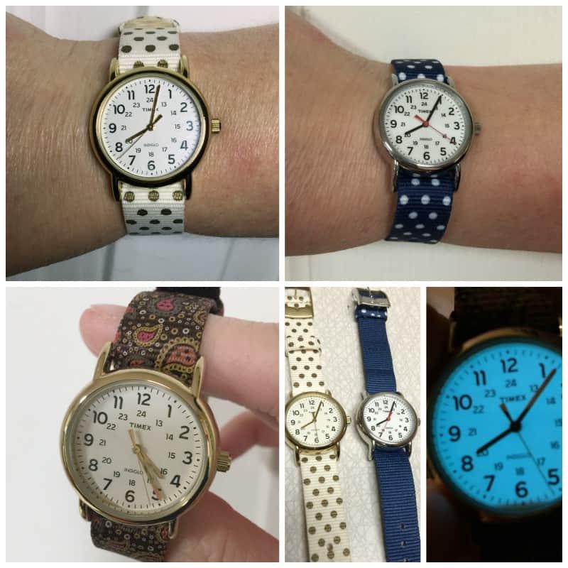 timex watch collage