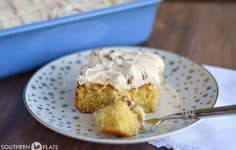 Italian Cream Cake from SouthernPlate