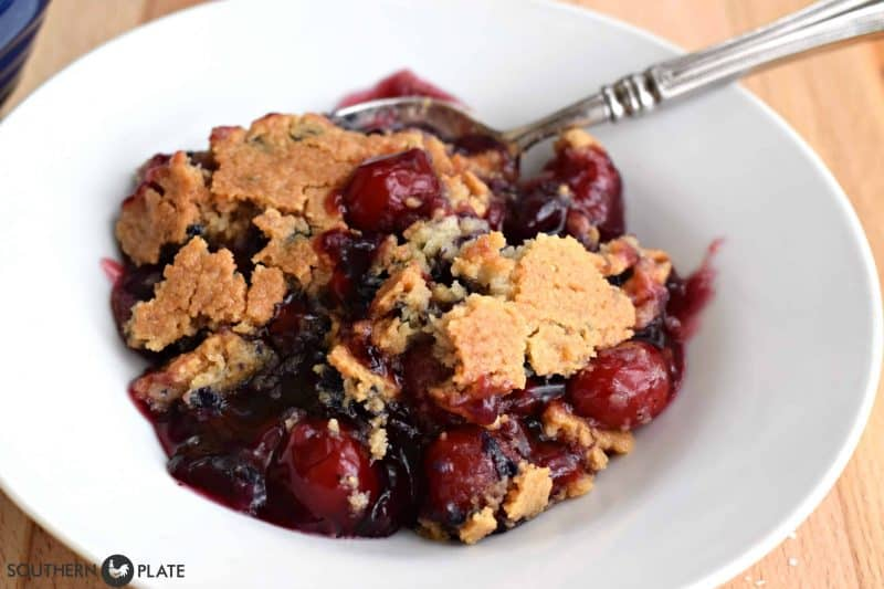 cherry berry cobbler