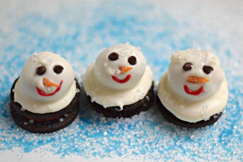 Oreo Melting Snowmen