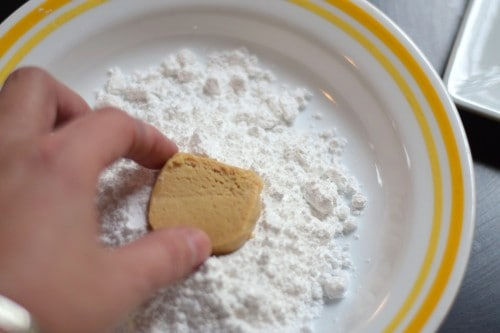 dipping in sugar