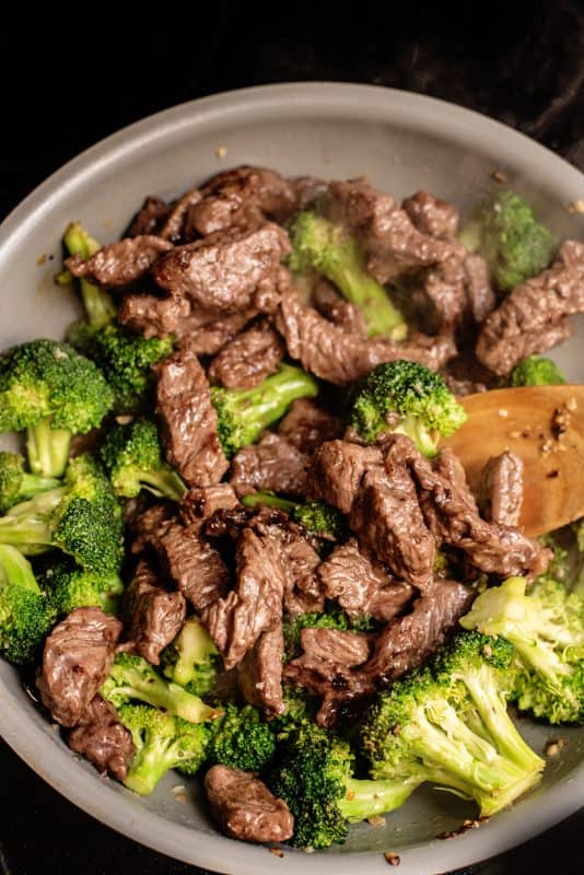 Add beef back to broccoli