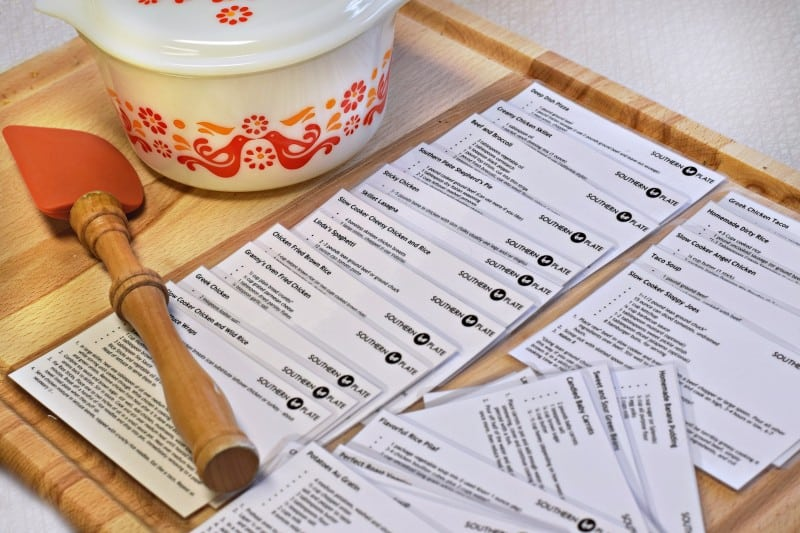 recipe cards southern plate