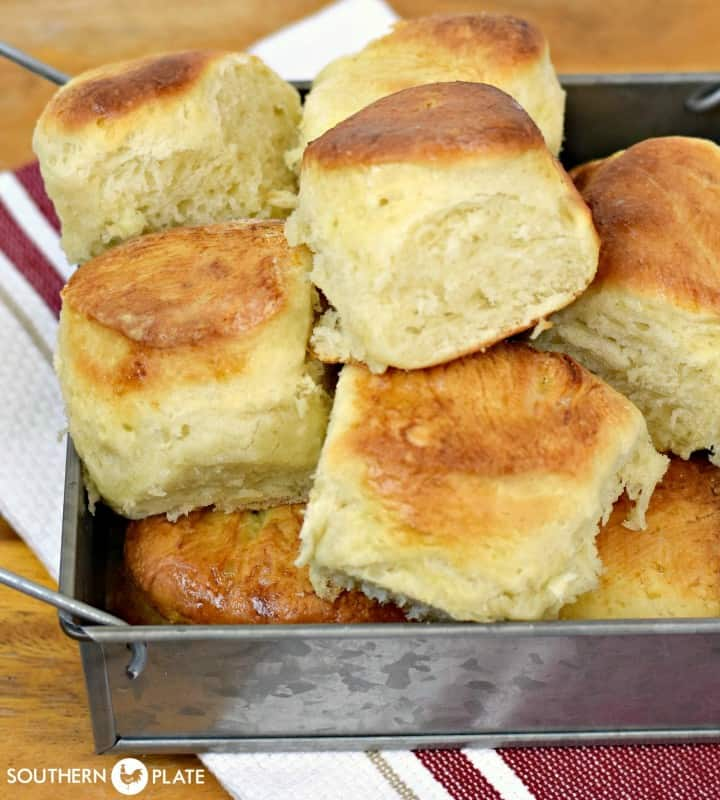 Preston Rolls - make this dough ahead of time for hot, yeasty, homemade rolls even on busy weeknights!
