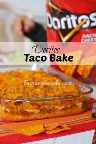 dorito's taco bake
