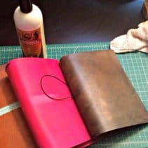 How to roll a leather traveler's notebook