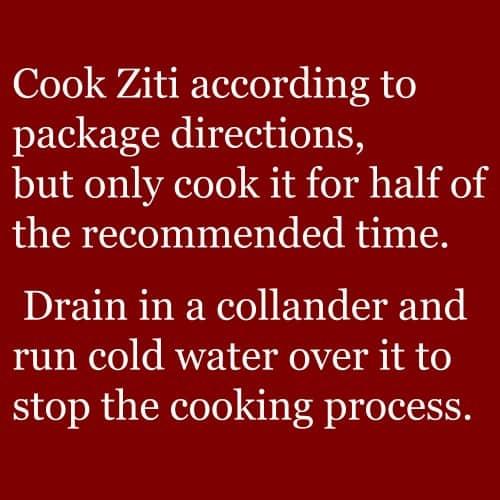 ziti instructions