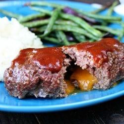 250grilled bbq meatloaf