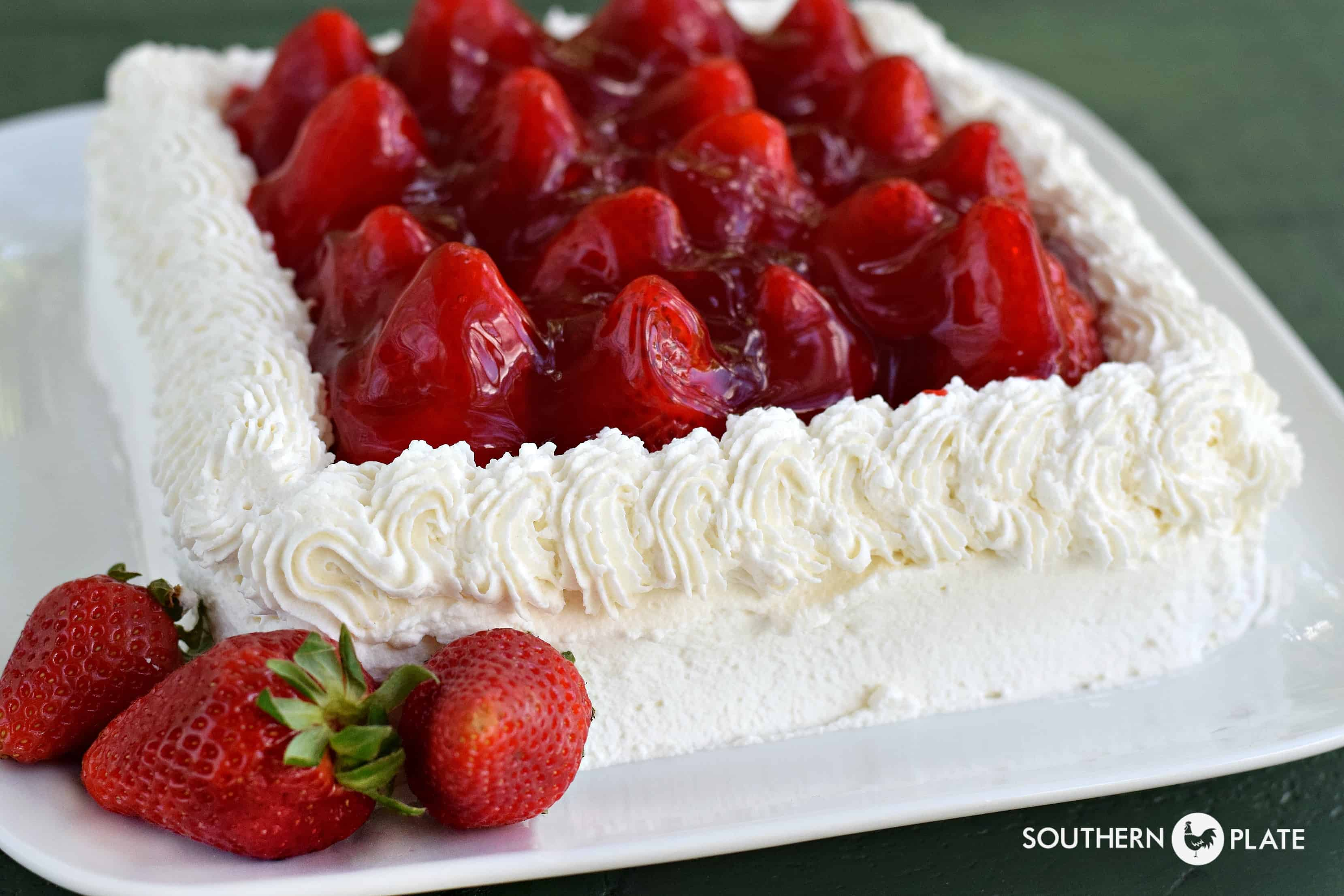Cake With Whipped Cream Frosting And Strawberries : That Strawberry Cake :) Southern Plate