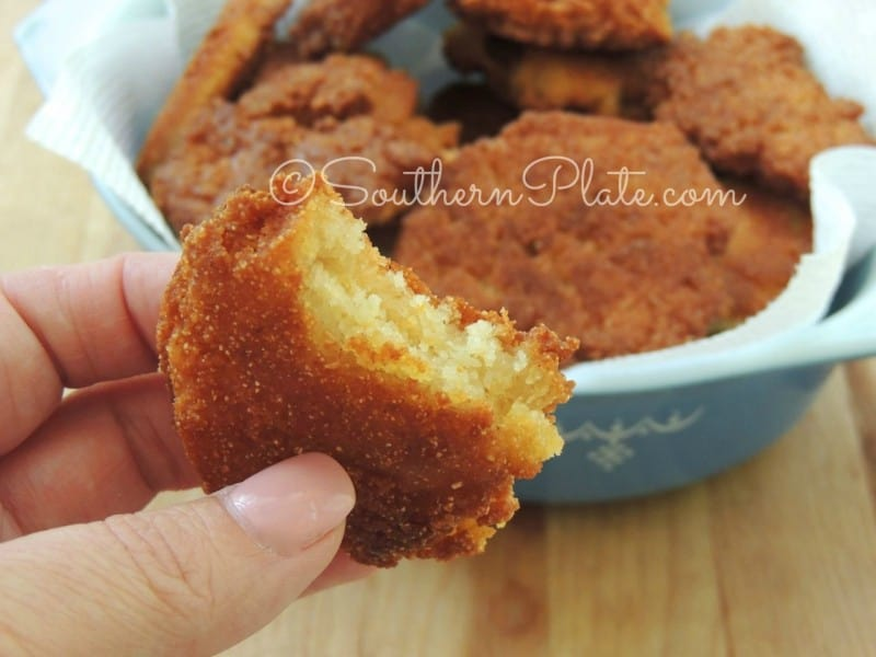 Hot Water Cornbread - just two ingredients!