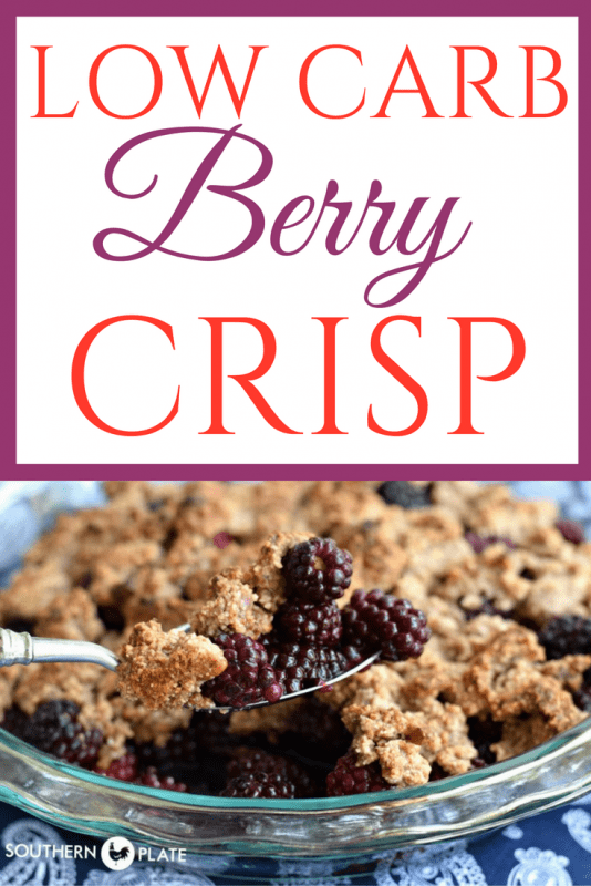 Low Carb Berry Crisp