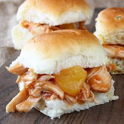 Slow-Cooker-Pineapple-Chicken-Sliders