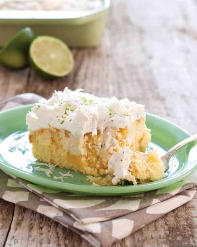 Key Lime Coconut Sheet Cake | Southern Plate