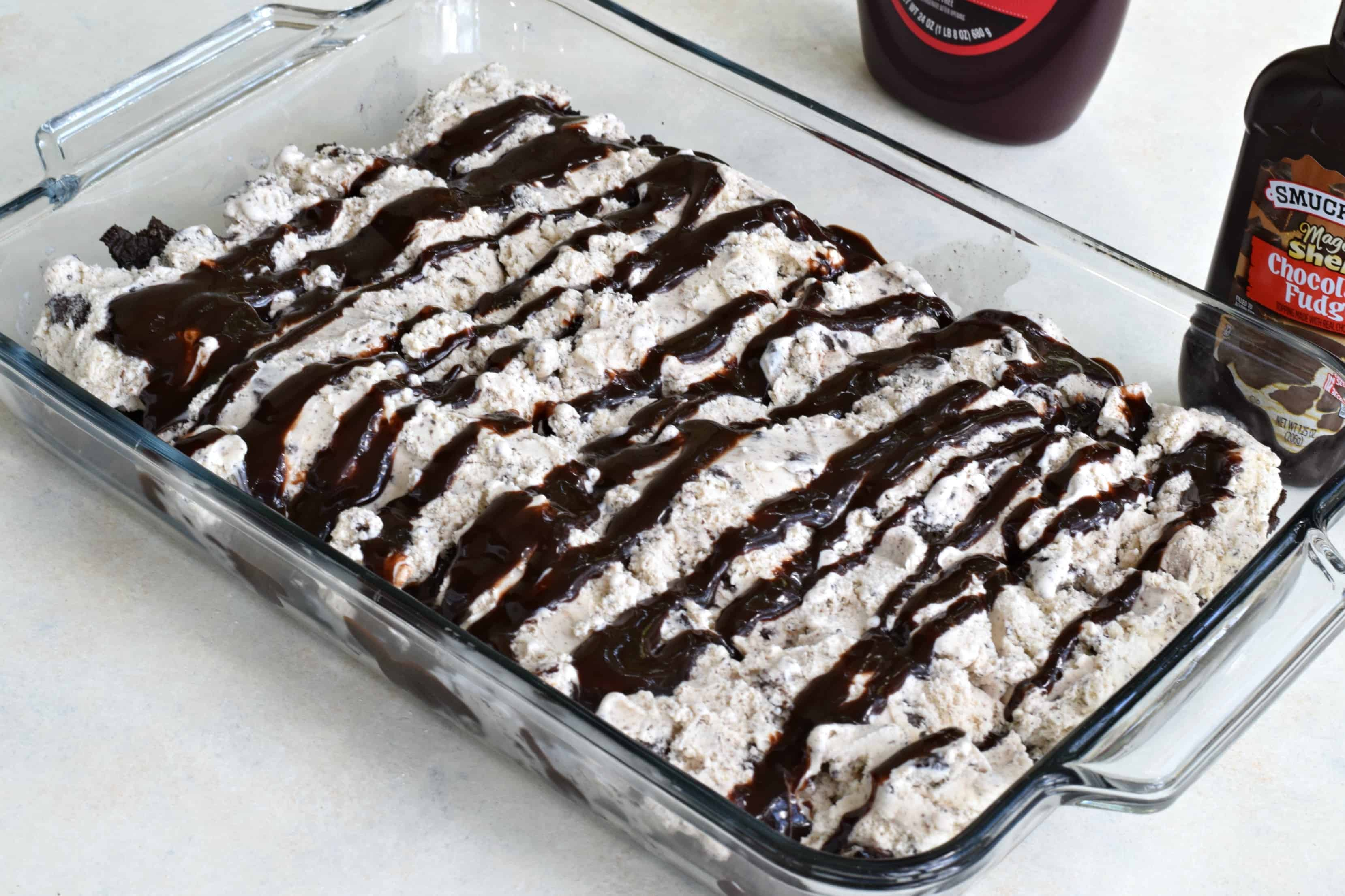 How to make mint oreo ice cream cake
