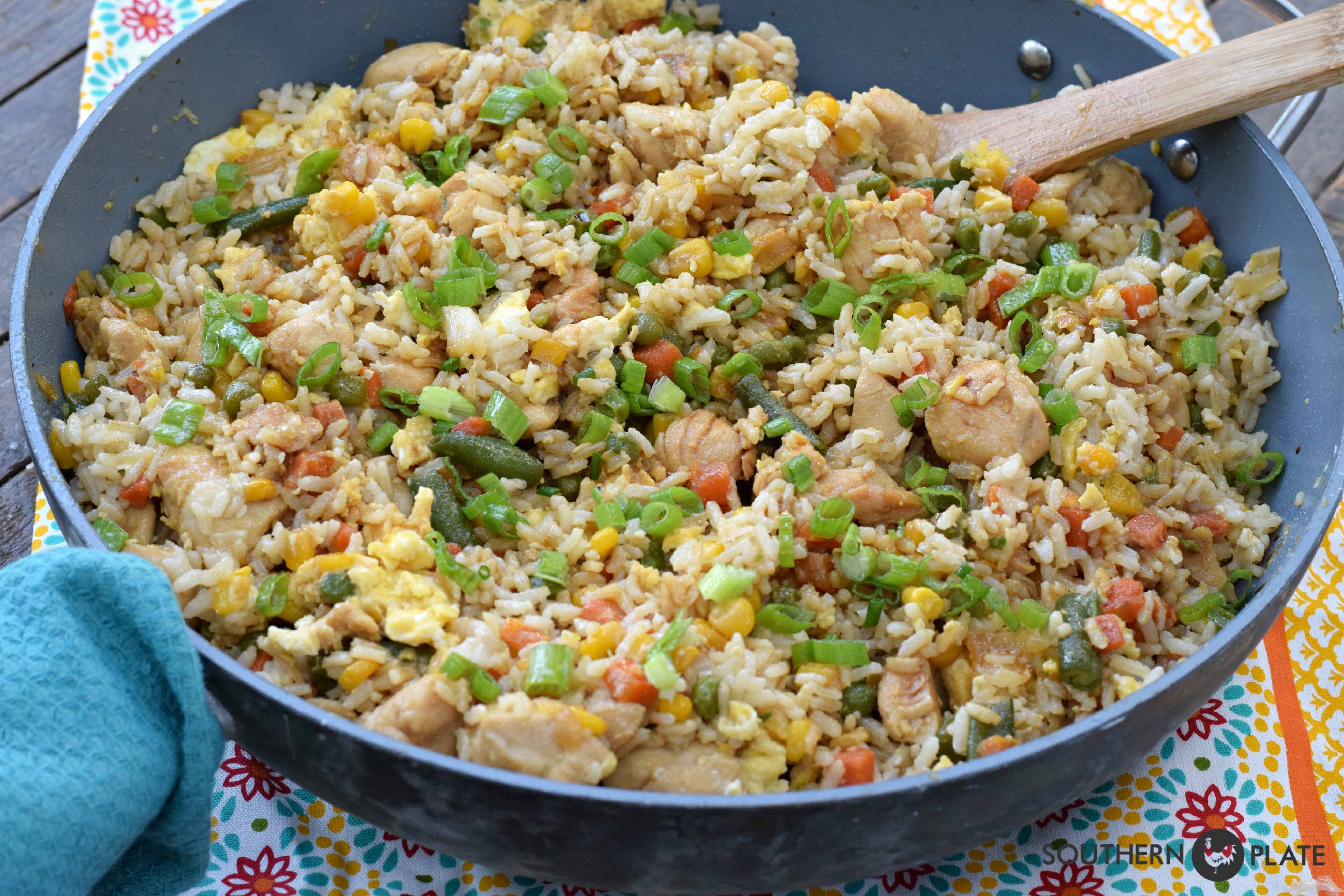 Freezer Chicken Fried Rice Southern Plate