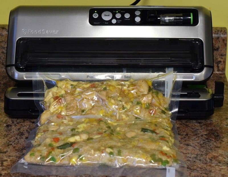 Freezer Chicken Fried Rice