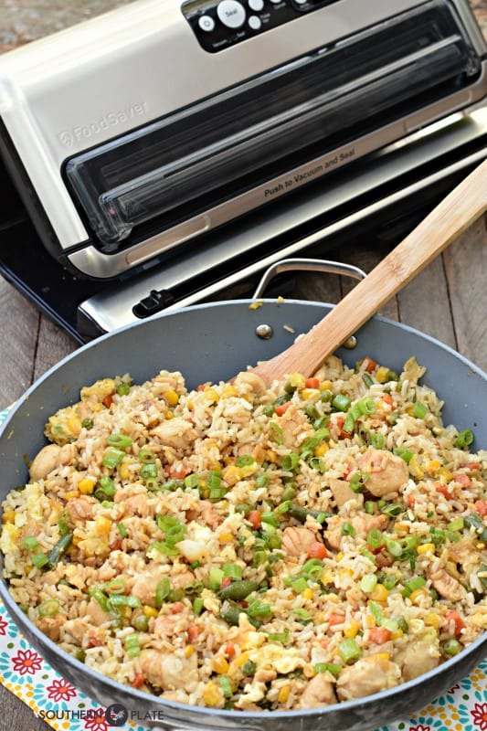 Freezer Chicken Fried Rice