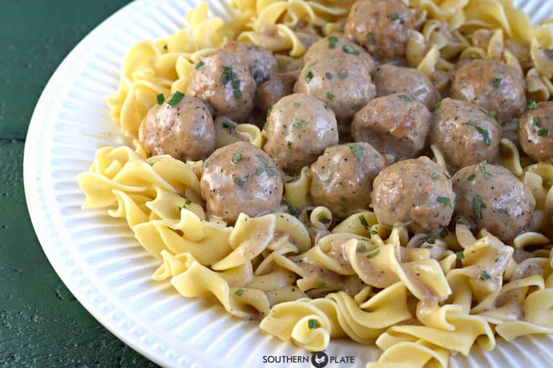 Crock Pot Salisbury Meatballs