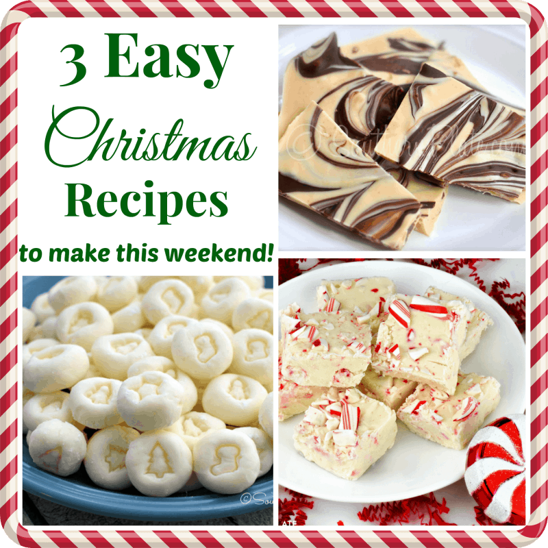 3 Easy Christmas Recipes to make this weekend!