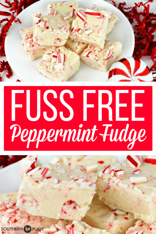 Fuss Free Peppermint Fudge