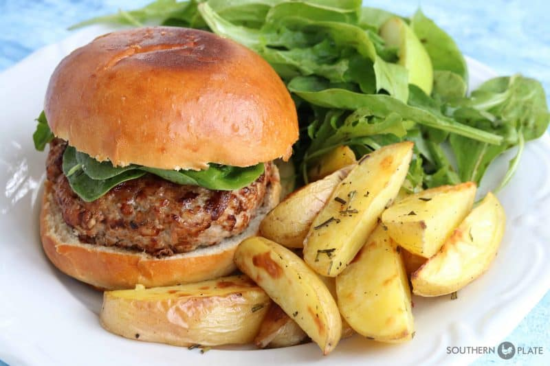 Juicy Pork Burgers (with a surprise ingredient!)