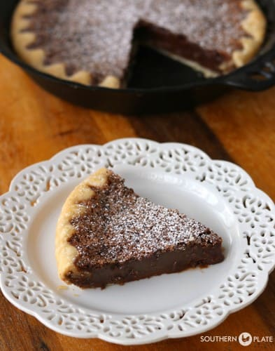 tall hero chocolate chess pie