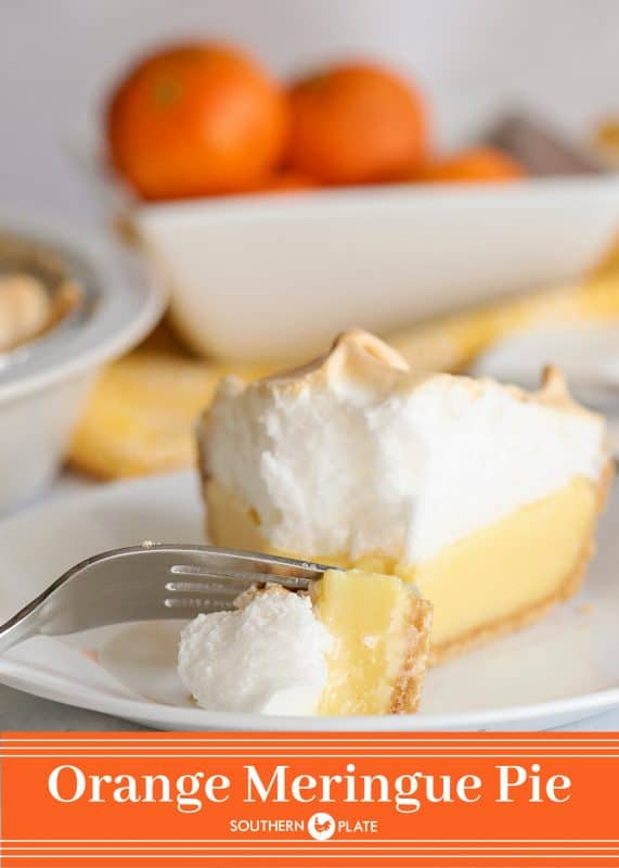 Orange Meringue Pie from SouthernPlate