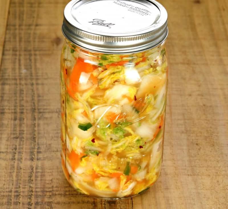 kimchi jarred