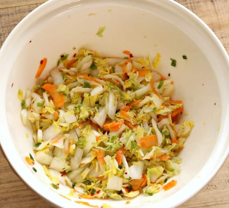 kimchi ready for jar