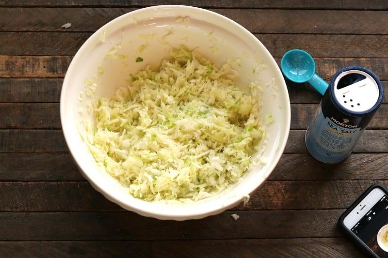 sauerkraut done squeezing
