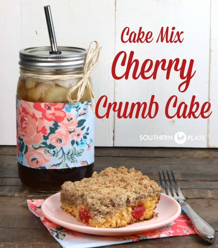 Cake Mix Cherry Crumb Cake